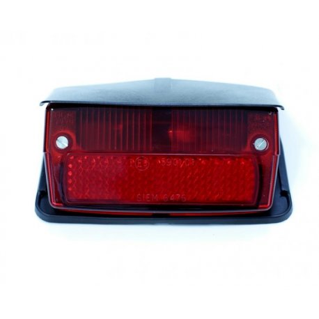 Tail light with gasket and black cover vespa 50 special v5b1t→3t, 50 elestart, siem original