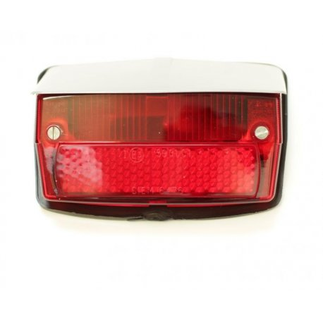 Tail light with gasket and grey cover vespa 50 special v5b1t→3t, 50 elestart, siem original
