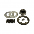 Increased primary gear ratio Pinasco 23-64 for vespa, straight teeth, 8-12 springs