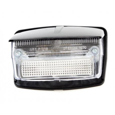 Tail light with gasket and black cover vespa 50 special v5b1t→3t, 50 elestart. white glass
