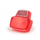 SIEM luminous body Vespa 125 Primavera rear light with aluminum reflector