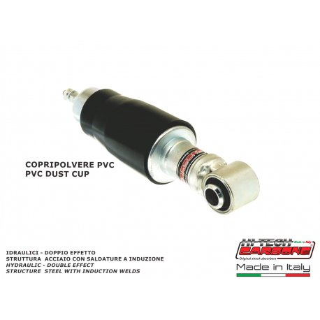 Front shock absorber made in italy by carbone for vespa 125 et3 dark spring cover