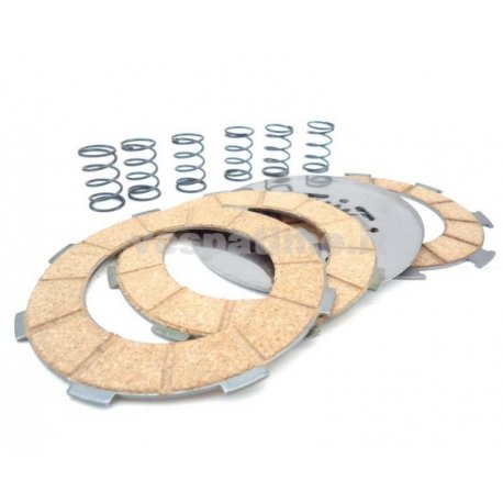 Complete set clutch plates surflex, steel discs, springs vespa gs 150 vs5t from chassis 0063167, 160 gs