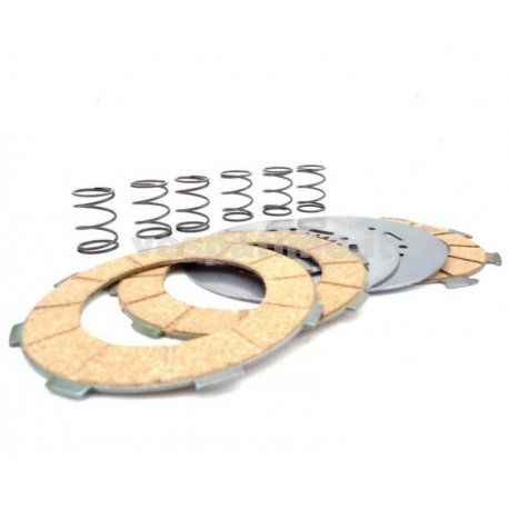 Complete set clutch plates surflex, steel discs, springs vespa 160gs,180 ss, 180/200 rally