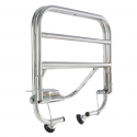 Chrome-plated rear luggage carrier with fastening rods vespa 50, 90, 125 primavera, et3