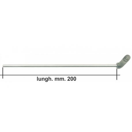 Lever fuel 200mm long for our product gr 001a aluminium
