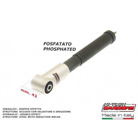 Rear shock absorber phosphated made in italy for vespa 125 from 1948 v1t→v15t, 125 v30t→v33t, 125 vm1t→vm2t