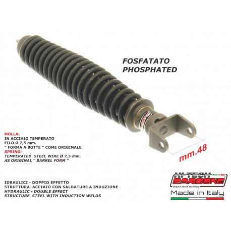 Rear shock absorber made in italy phosphated