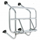 Chromed front luggage carrier with rods for Vespa 50/90/125 Primavera/ET3/PK/PX/PE/Arcobaleno/My