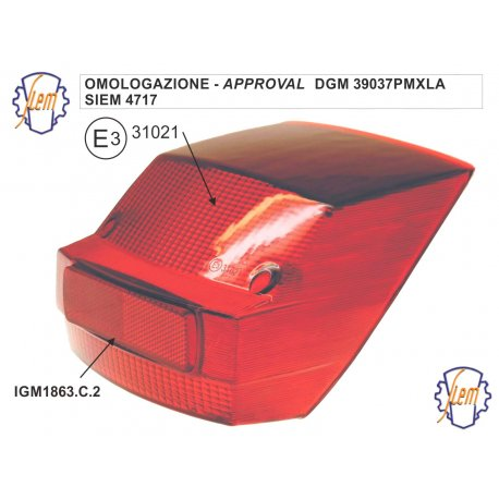 Taillights SIEM for Vespa PX-PE 1 SERIES
