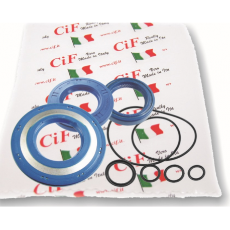Kit oil seal vespa px 125/150, arcobaleno, 125 gtr/ts, 150 sprint veloce, 200 rally (set 3 oil seals + 5 o-rings) corteco blue.