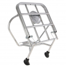 Chrome-plated rear luggage carrier with fastening rods and spare wheel holder for vespa 50, 90 full-rim 2.75-9 3.00-10 wheels