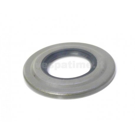 Oil seal clutch side with external metal sheet, vespa px/pe, 125 ts/gtr, 150 sprint veloce, 180/200 rally, 125 t5, cosa