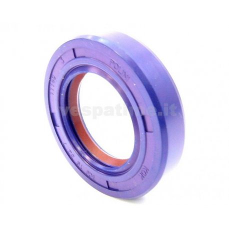 Oil seal flywheel side dimensions 19-32-7 vespa 50/90/125 primavera/et3, pk50, pk50s, viton with teflon lip, polini