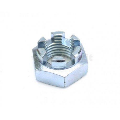 Zinc-coated nut for fastening drum/flange rear wheel all vespas from 1954