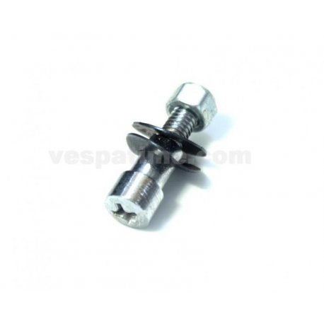 Screw with nut fastening cross levers