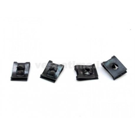 Clips for fastening horn to frame, 4-piece kit