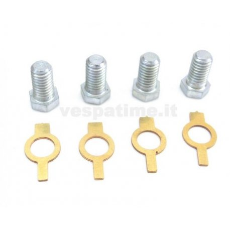 Kit bolts and plates for fastening fan-flywheel for vespa from 1948 until 1963
