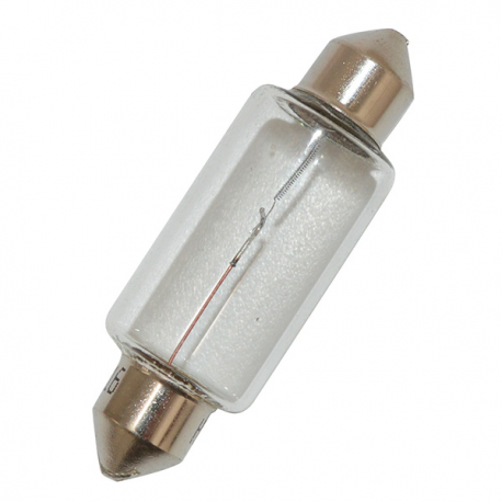 Festoon light bulb 6V 15W, dimensions 15x44
