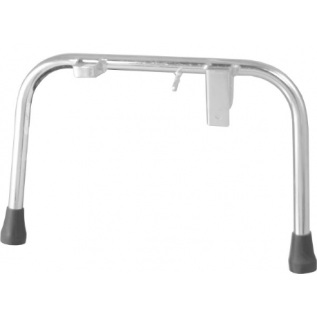 Central stand zinc-coated ø 22 with rubber kit for vespa px/pe/arcobaleno all series