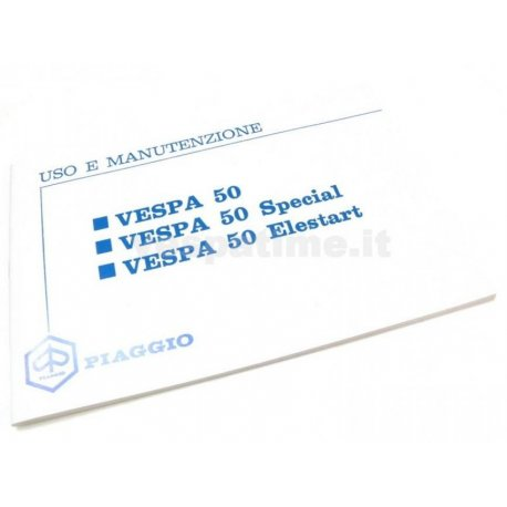 Use and maintenance manual vespa 50, 50 special, 50 elestart