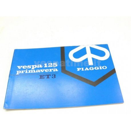 Use and maintenance manual vespa 125 et3