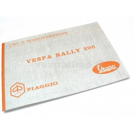 Manual de uso y mantenimiento vespa 200 rally
