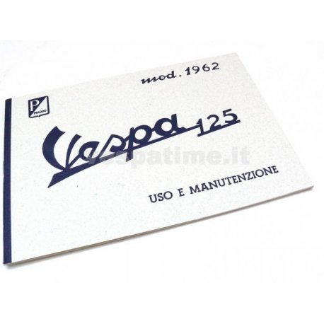 Use and maintenance manual vespa 125 model year 1962