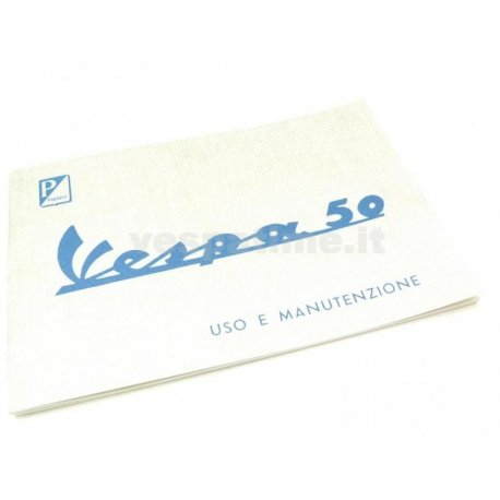 Use and maintenance manual vespa 50