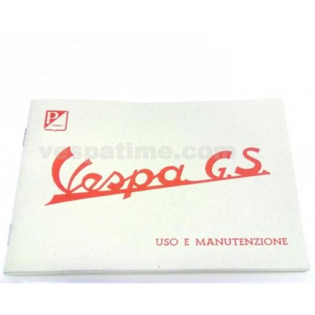 Use and maintenance manual vespa gs 150 vs5t