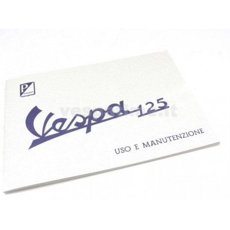 Use and maintenance manual vespa 125 model year 1960