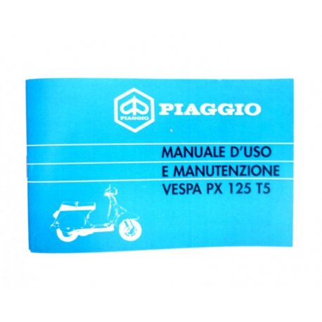 Use and maintenance manual vespa 125pxt5