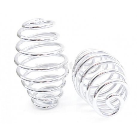Pair of biconical springs chrome for saddle vespa before 1950s