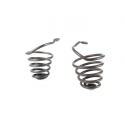 Pair of springs dark green for front saddle vespa 150 vl1t→vl2t struzzo