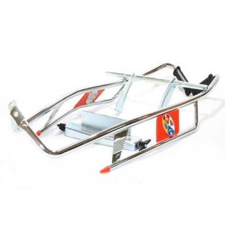 Chrome-plated crash bar sidepanel/red vespa 50, 90, 125, primavera, et3