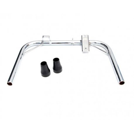 Central stand chrome ø 22 with rubber kit for vespa px/pe/arcobaleno all series