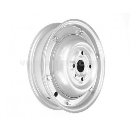 Wheel rim 3.00-10 grey closed type for vespa 90/90ss painted aluminium