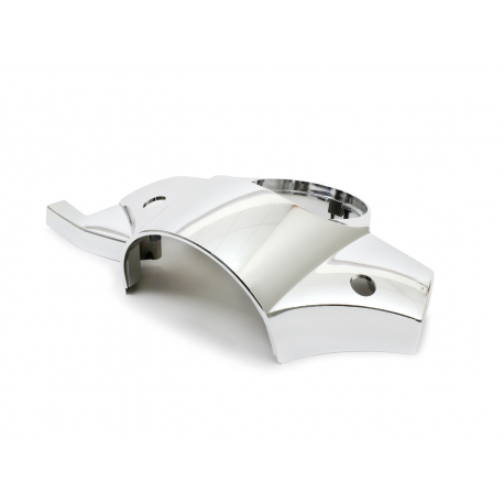 Handlebar cover vespa px disc brake with holes for mirrors chrome