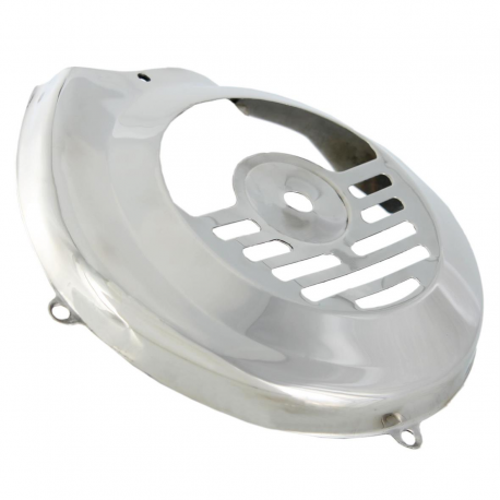 Flywheel cover stainless steel for vespa 50 first series until chassis 92876, vespa 90 until chassis 22234
