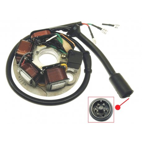 Complete stator APE - ape 50, 5-wire connector, 3 wires with faston