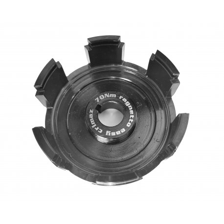 Hub spider clutch EASY entirely machined from solid for single-spring clutches, by crimaz