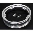 Wheel rim tubeless with channel 2.10-10 polished aluminium
