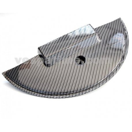 Cover protection spare wheel plastic carbon look for vespa px/pe