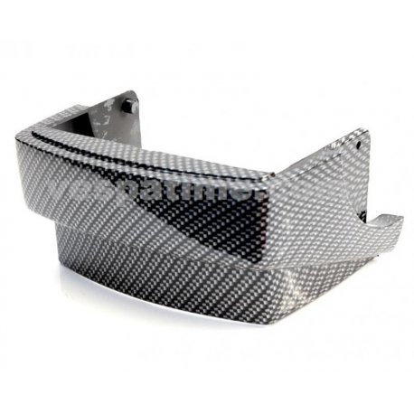 Protection rear mudguard side panel vespa px/pe arcobaleno series, carbon look
