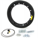 Wheel rim tubeless with channel 2.10-10 black