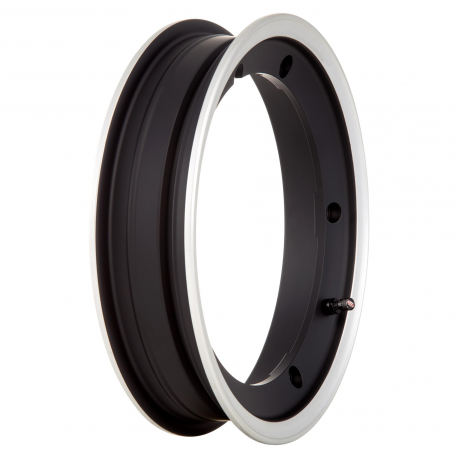Wheel rim tubeless SIP 2.0 with channel 2.10-10 black with aluminium edge