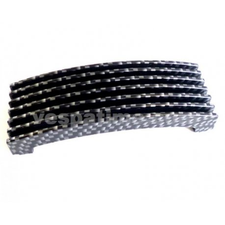 Grille for horn cover nose Vespa PX/PE/Arcobaleno - 117X42 MM, carbon look