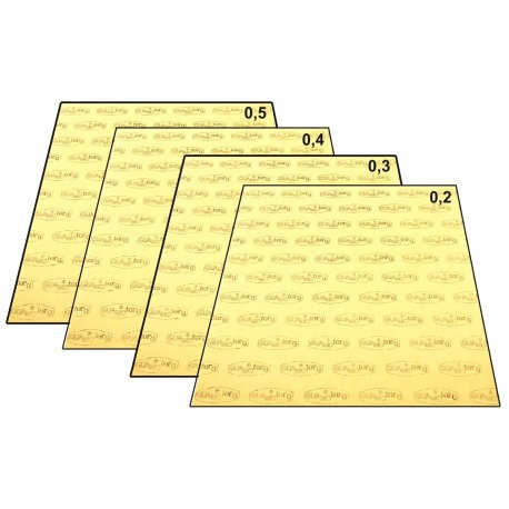 Kit of paper sheets for motor gaskets 0.2 - 0.3 - 0.4 - 0.5 mm
