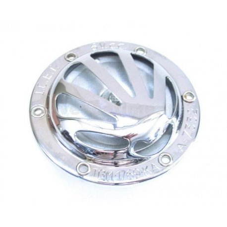 Horn chrome 6v dc vespa gs 150 vs2t→5t, 150 vba1t, 150 vbb1t, 150 gl vla1t, gs 160 vsb1t, 180 ss vsc1t with battery