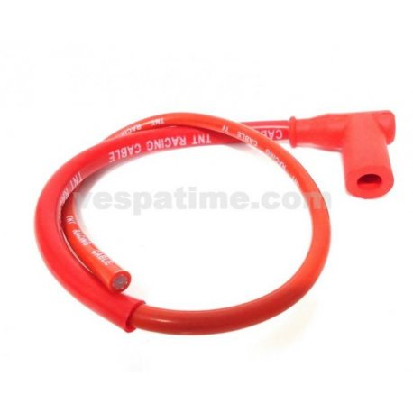 Plug spark plug cable red tnt with shielded cable